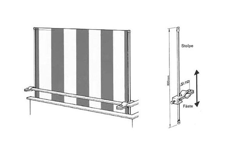 Clipper-balkongskydd