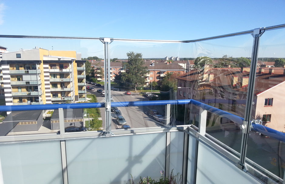 Balkongskydd Glasklart