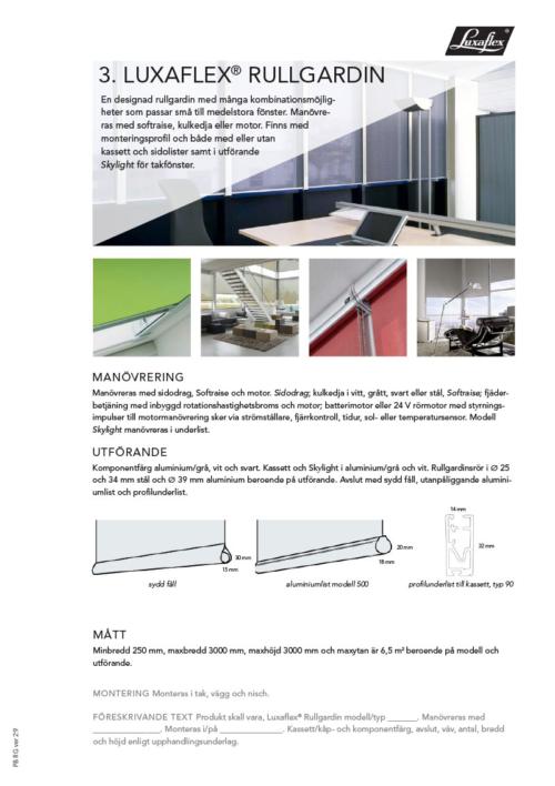 Luxaflex Rullgardin Design