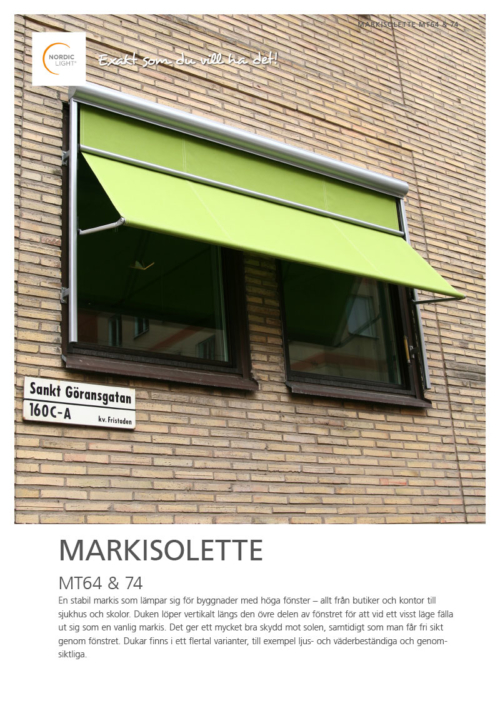 Nordic Light Markisolette MT64, 74
