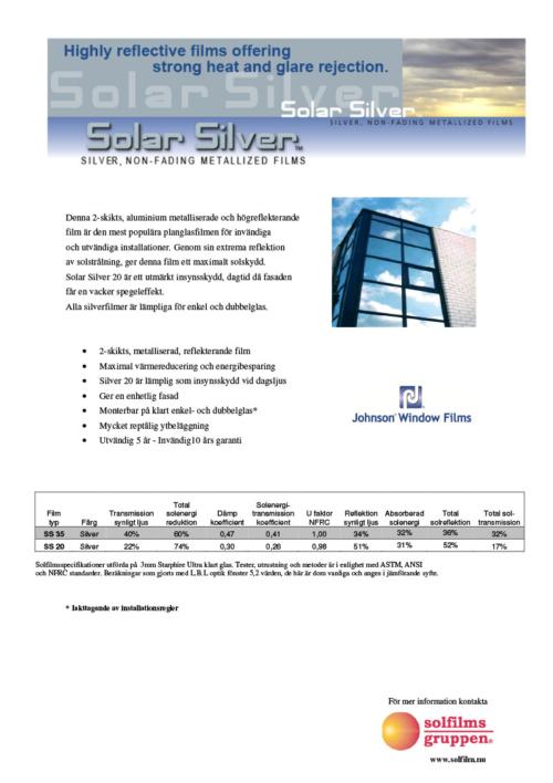 Solfilmsgruppen Solar Silver