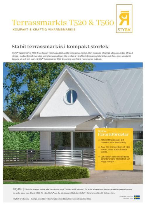 StyRa Terrassmarkis T520 & T560